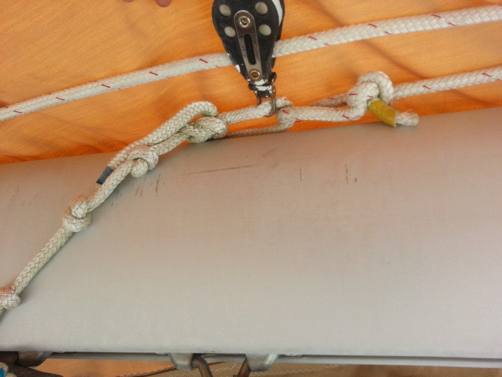 Outhaul rig