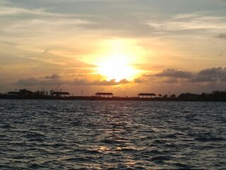 Nassau sunset before we leave